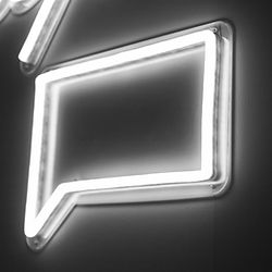 Neonschild Sprechblase kostenfreie Erstberatung Coaching