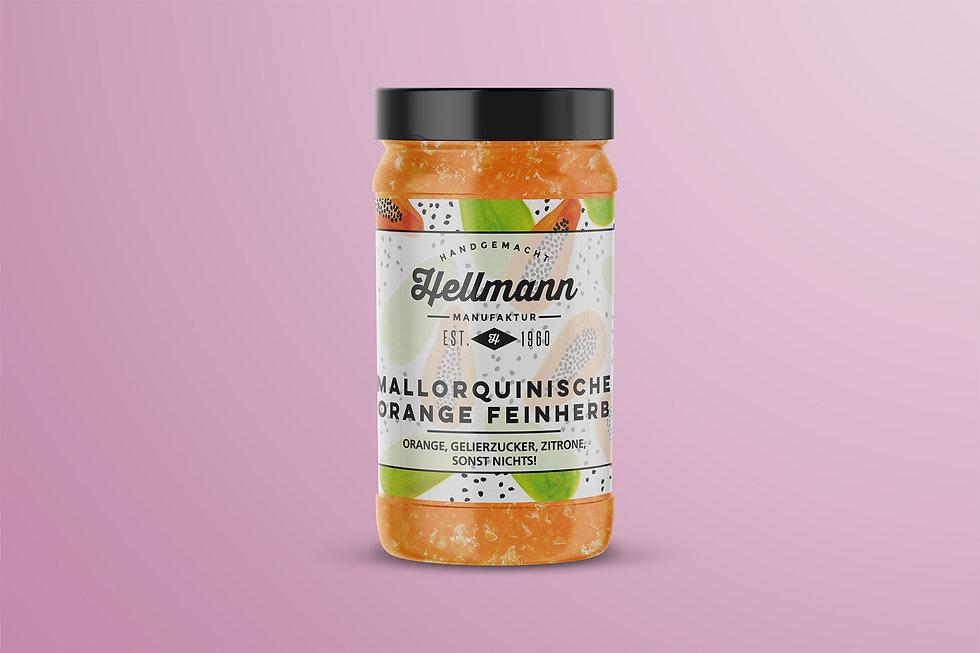 Hellmann Manufaktur marmelad Etikett Design