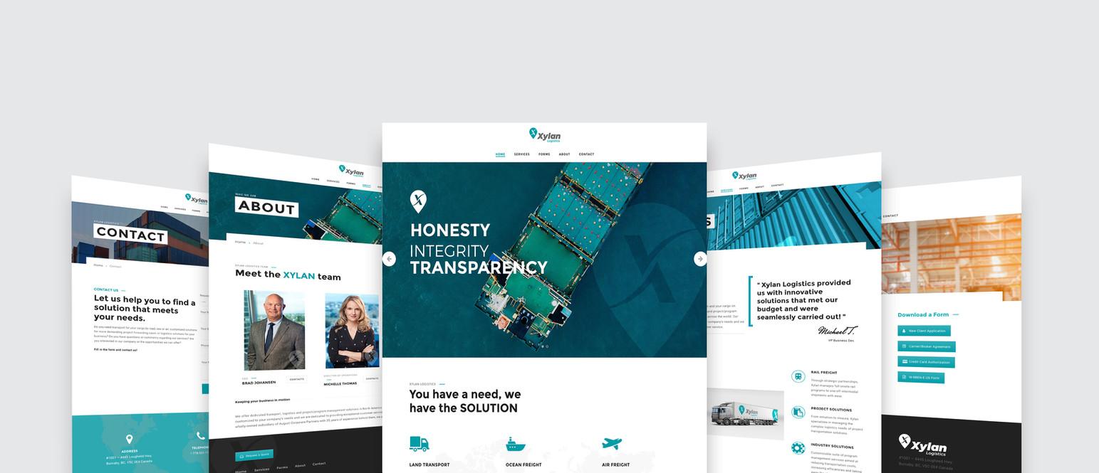 Xylan Logistics Website Design