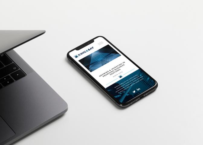 King & Bay Mobile Website Design