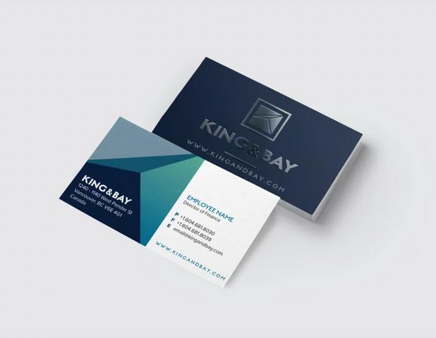 King & Bay Business Card Design Branding