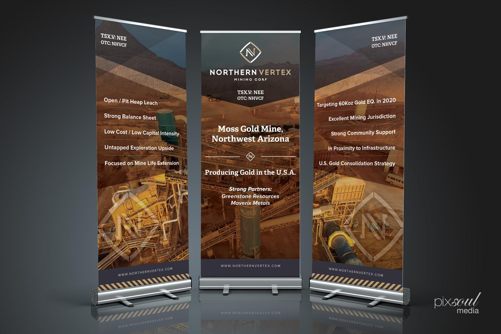 Northern Vertex Banner Trio