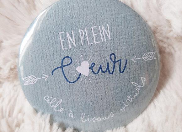 """Badge """"En plein coeur"""""""