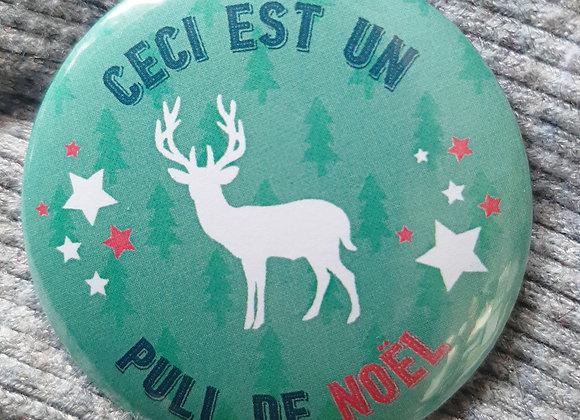 """Badge """"Pull de Noël"""""""