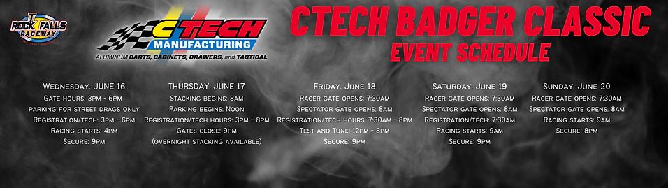 CTech Badger Classic - Web Schedule Bann