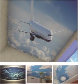 plafond tendu dco-design avion