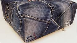 Pouf en jean recyclés