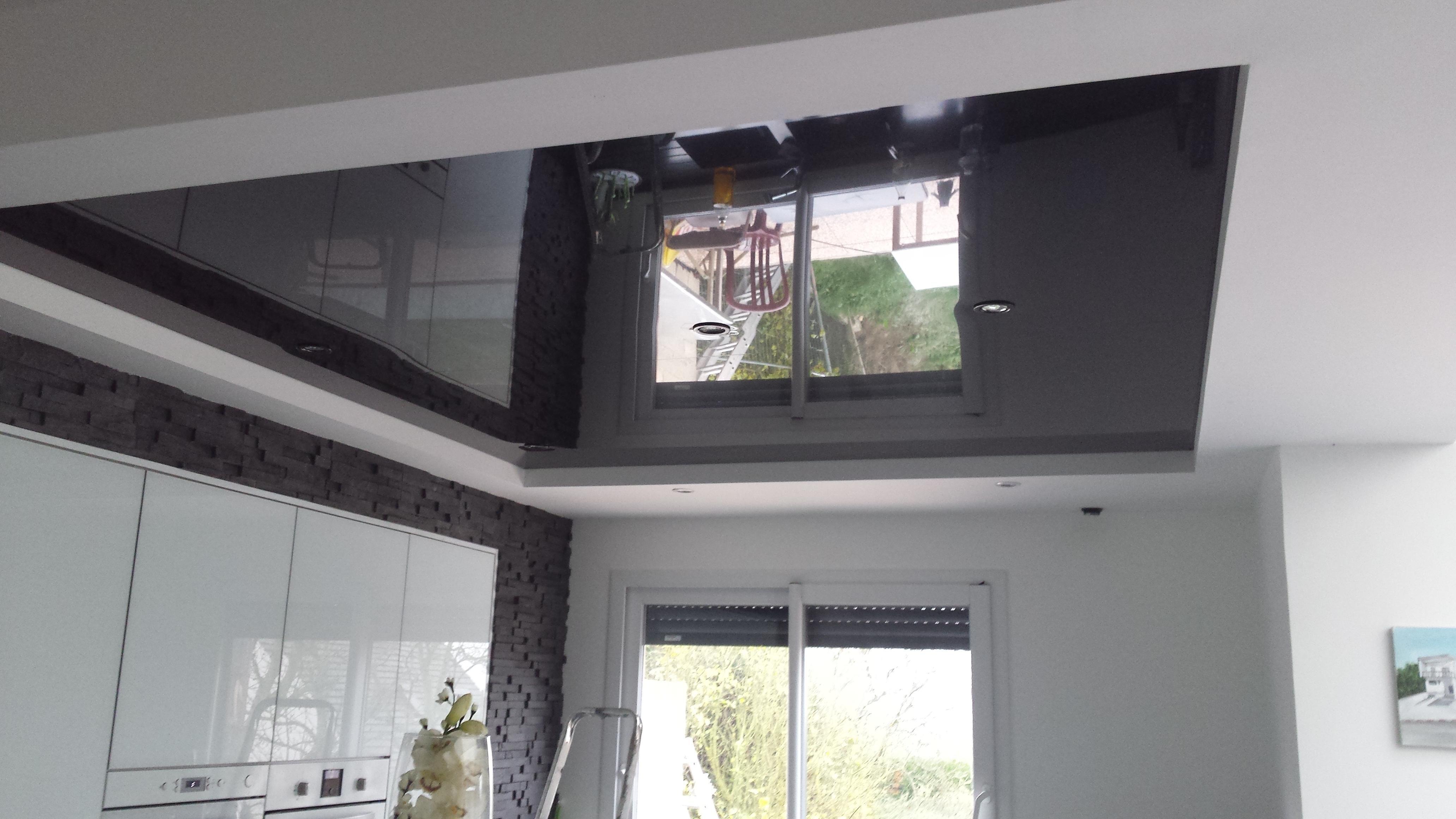 plafond tendu DCO laqué noir