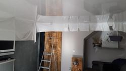 pose plafond tendu laqué