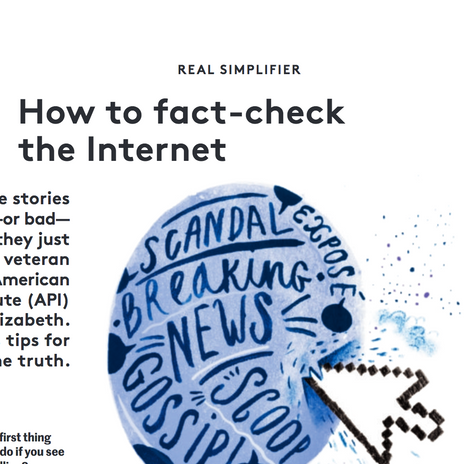 how to fact-check the internet