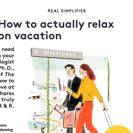 how to relax on vacation