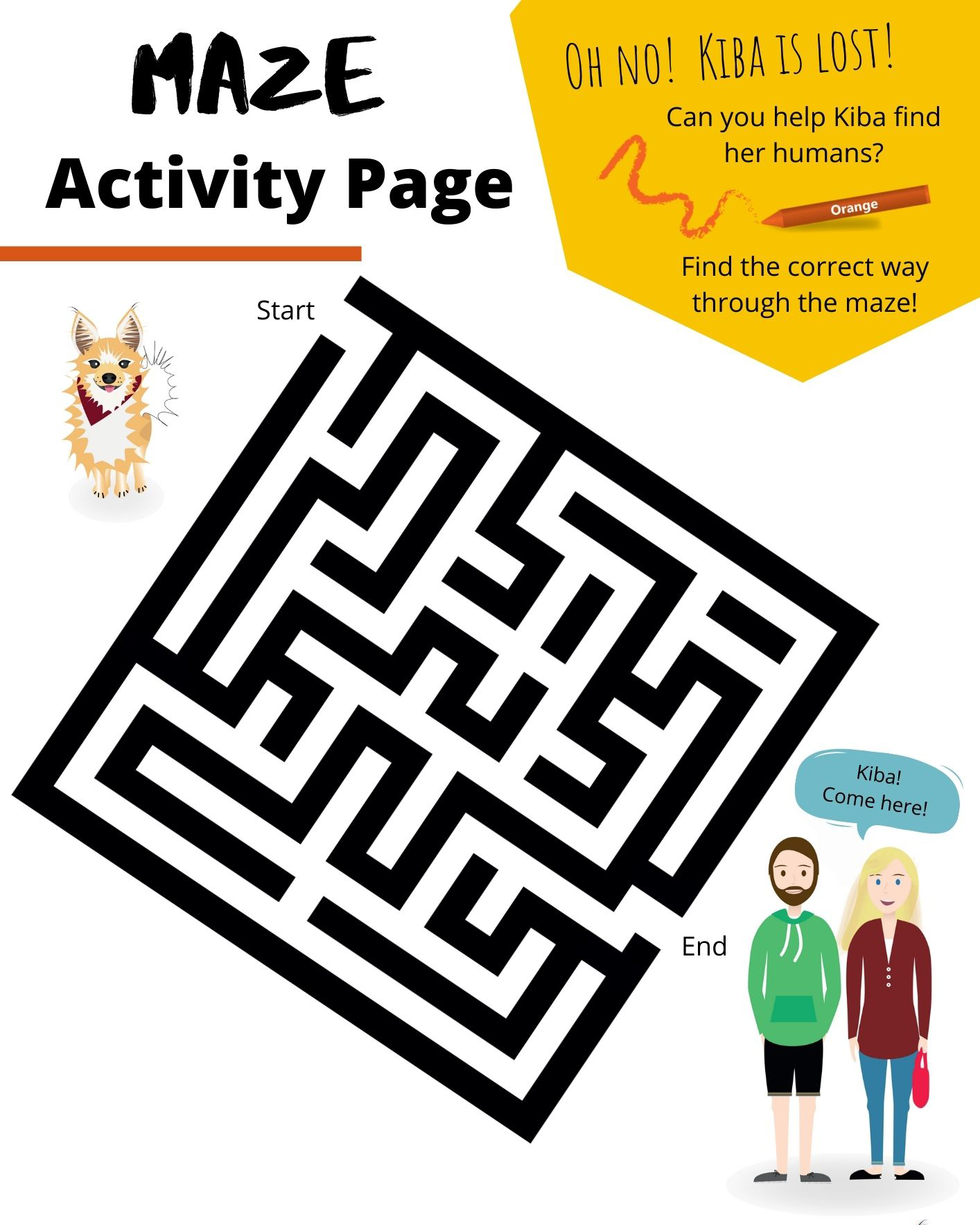 Maze Activity Page