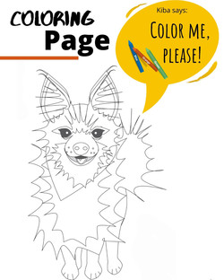 Coloring Page of Kiba the dogng Page_Thumbnail