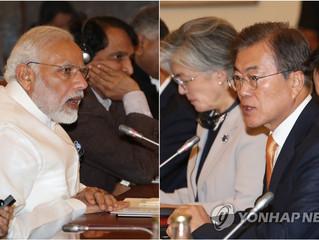 Los líderes de Corea del Sur y la India se reunirán para celebrar una cumbre bilateral