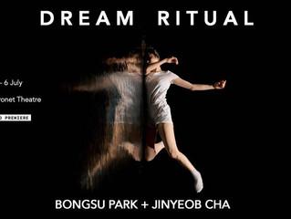 """Artista y bailarín coreanos presentan """"Dream Ritual"""" en Londres."""