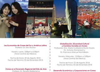 Cursos Agosto - Diciembre 2018