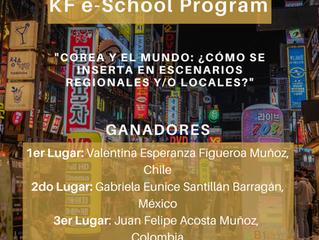"""Ganadores del V Concurso de Ensayos del e-School Program: """"COREA Y EL MUNDO: ¿CÓMO SE INSERTA EN ESC"""