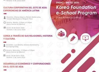 Modificación de fechas de cursos del Korea Foundation e-School Program for Latin America
