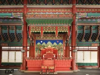 El salón del trono ornamentado del palacio real Gyeongbok abrirá al público