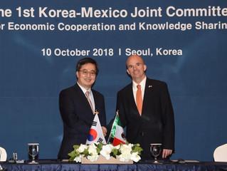 Corea del Sur y México acuerdan incrementar la cooperación económica