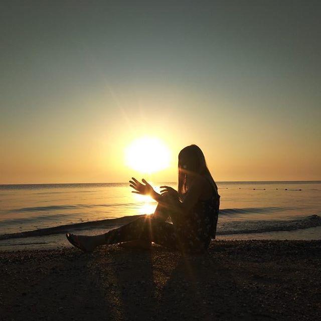 Восход солнца над морем!_#азовскоеморе #
