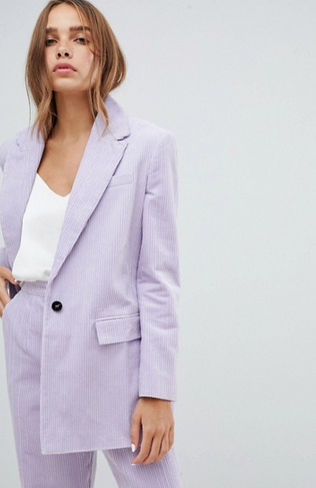ASOS DESIGN Cord Tailored Blazer