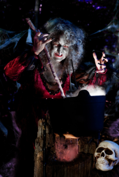 Halloween Witch at Caldron