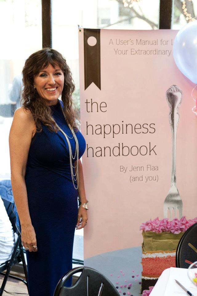 Jenn Flaa at the Happiness Handbook Launch Party