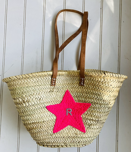 Neon wool star basket