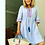 Thumbnail: Blue and White striped Kaftan with embroidery