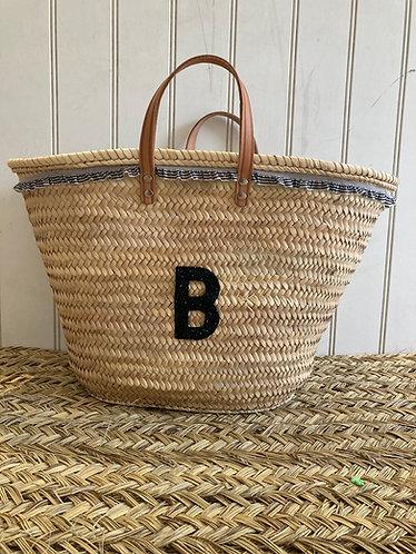 Gingham Ruffle Basket