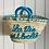 Thumbnail: Embroidered Short handled neon basket