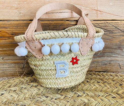 Mini pompom basket