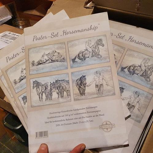 """Poster-Set """"Horsemanship"""""""