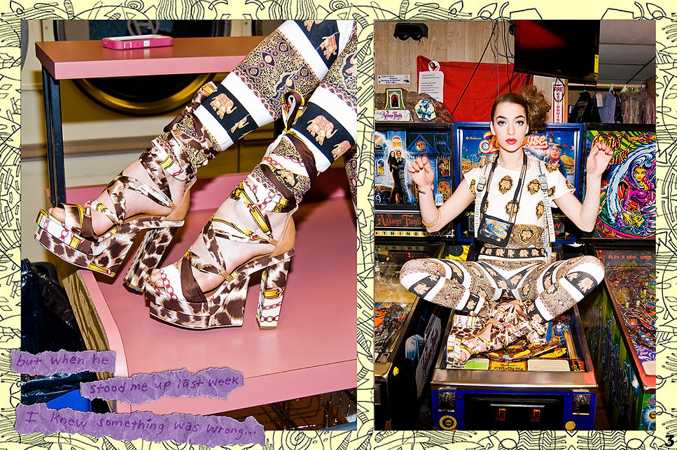 Photography by Michael Burk for Jeffrey Campbell Shoes