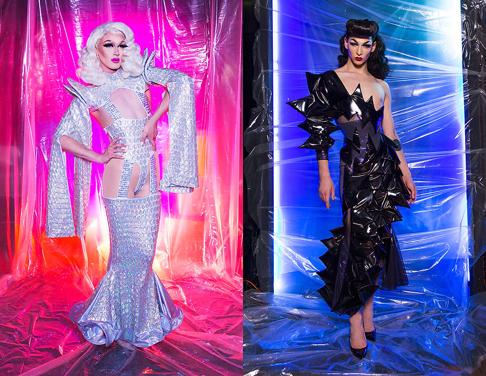Photography by Michael Burk for BCALLA featuring Pearl Liaison & Violet Chachki