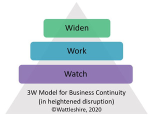 Wattleshire 3W Model of Business Continuity in Heightening Disruption