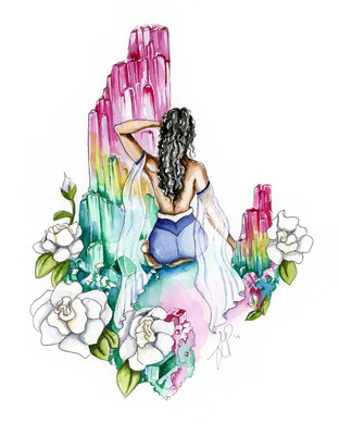 Crystals and Gardenias