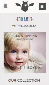 Fashion & Clothing website templates – Little Layette