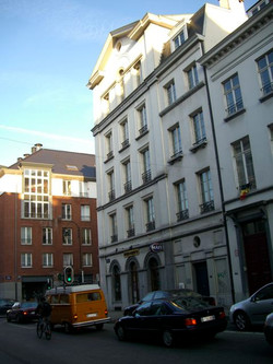 New buildings along Rue De Laeken