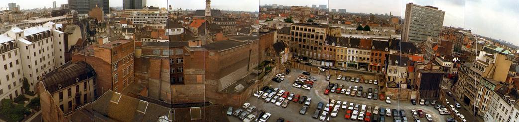 Derelict city block