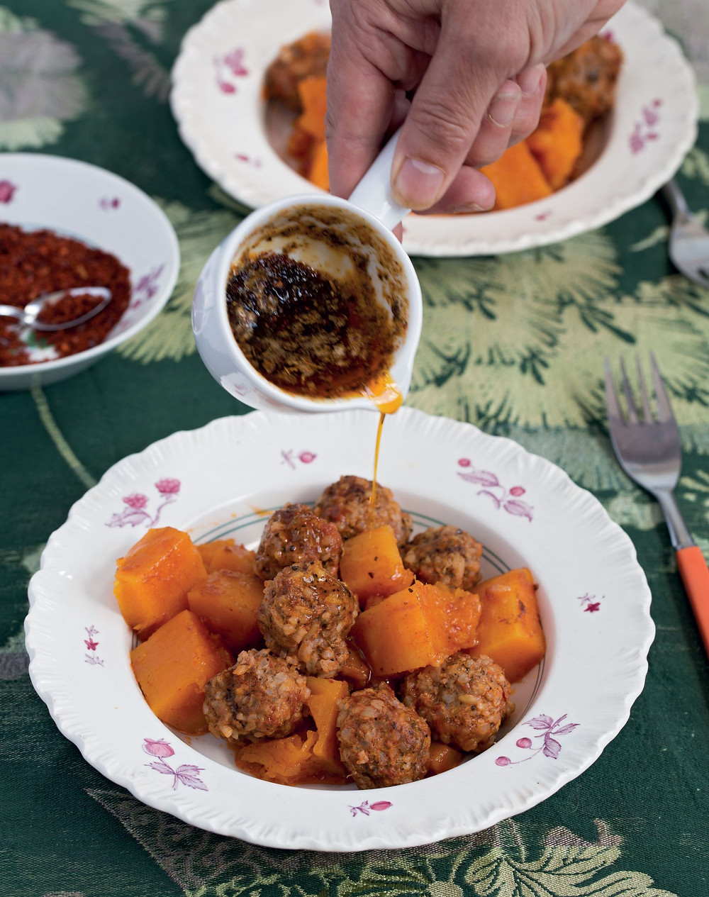 Meatballs with pumpkin and spice butter (c) David Hagerman