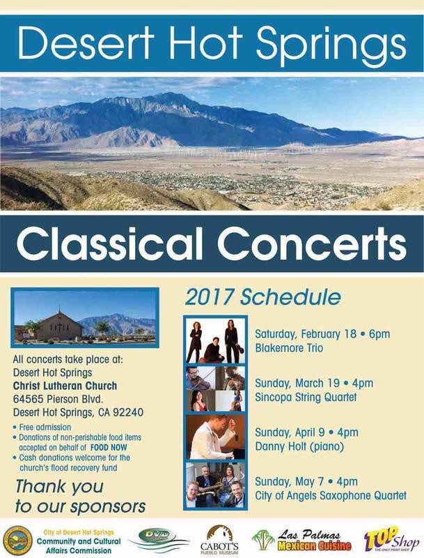 DHS Classical Concerts Flyer