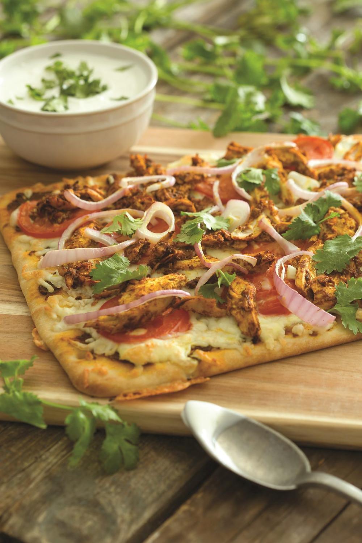 Todd English's Chicken Tikka Masala Naan Pizza