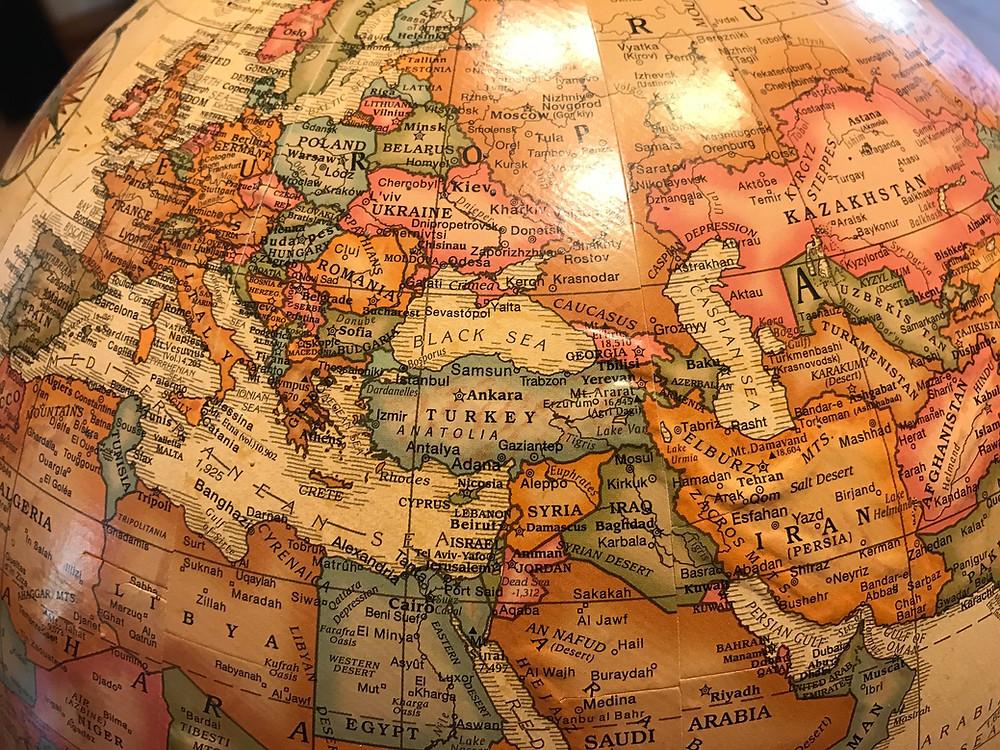 Globe image of Turkey