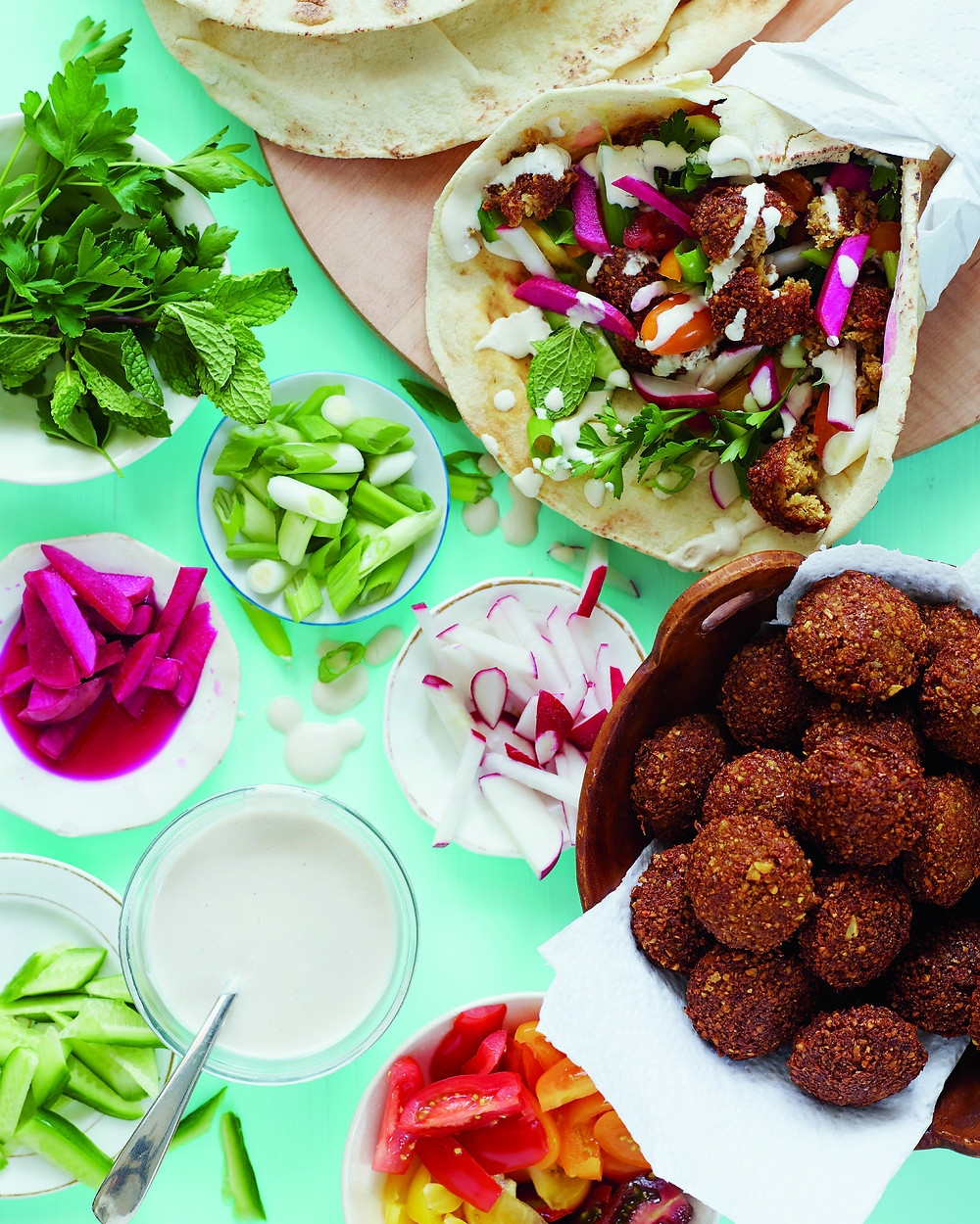 Falafel, Spiced chickpea fritters
