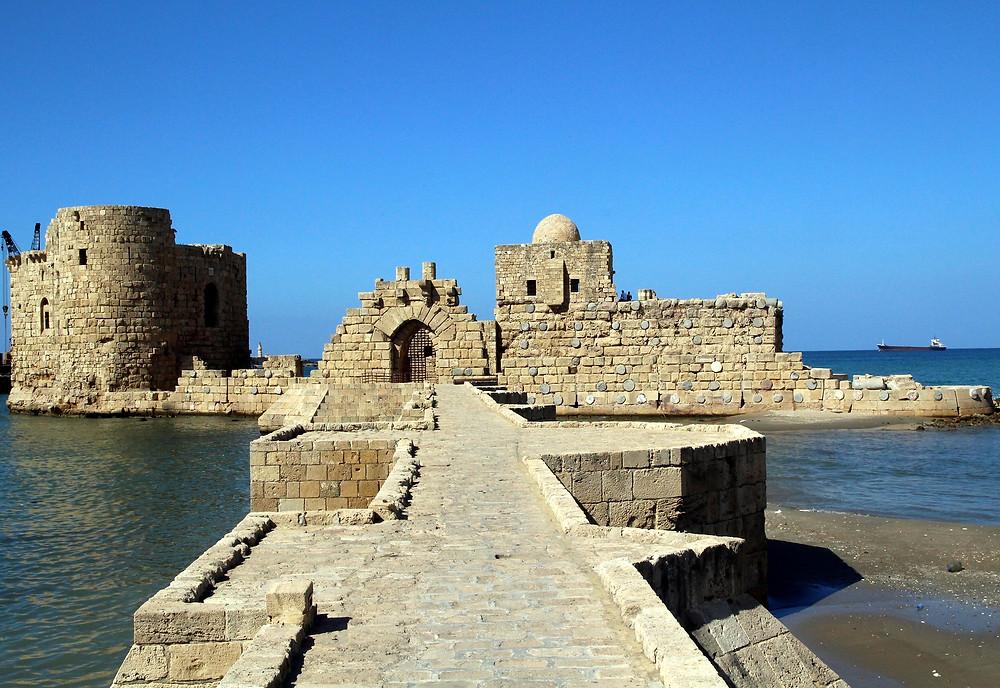 Saida Lebanon Beirut Castle Crusade Old Date