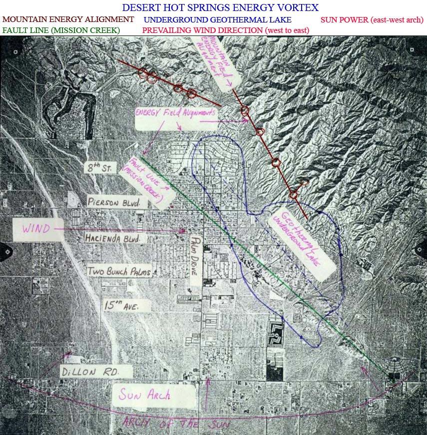 Desert Hot Springs Energy Vortex Map
