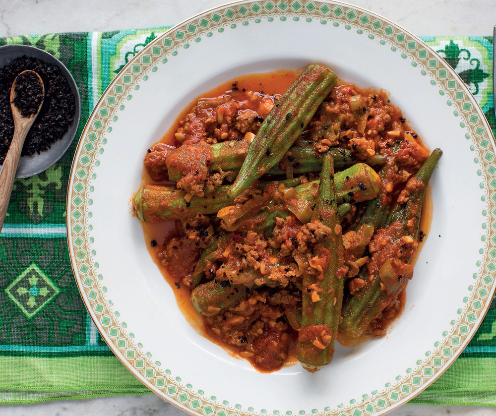 Spicy Okra & Lamb Sauté photo by Dave Hagerman