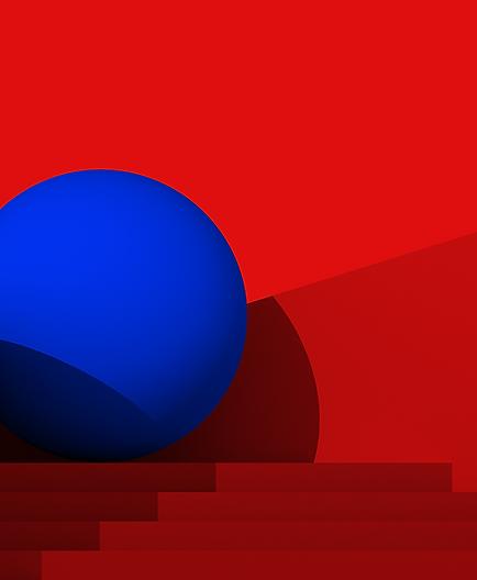 art design artist red blue